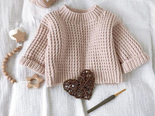 crochet Chunky Oversized Jumper easy pattern