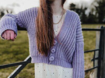 crochet Eriu Cropped Cardigan free pattern