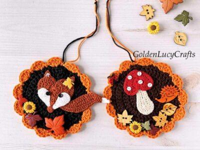 crochet Fall Ornament free pattern