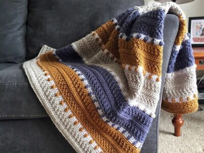 crochet For the Love of Texture Afghan easy pattern