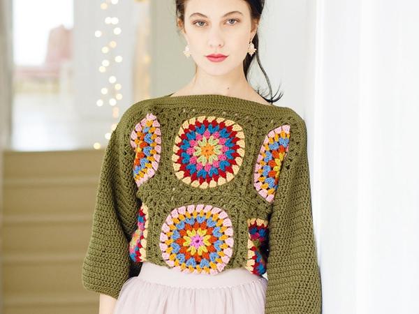 crochet Grannys Jumper easy pattern