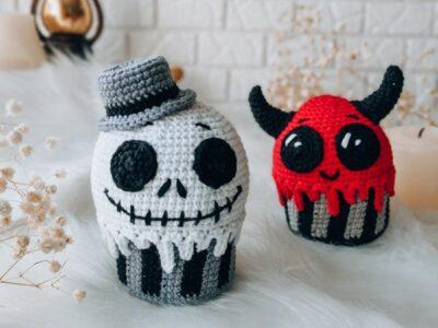 crochet Halloween Cupcakes easy pattern