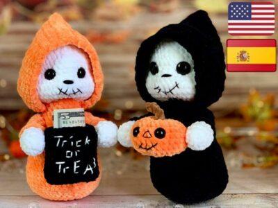 crochet Halloween Ghost easy pattern