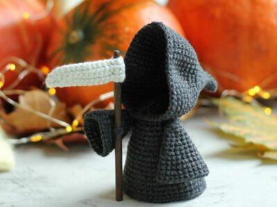 crochet Halloween Grim Reaper easy pattern