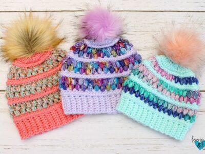 crochet Jelly Beanie free patterns