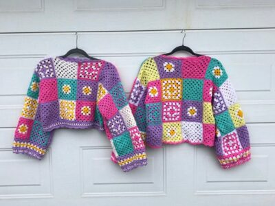 crochet Pastel Patchwork Jumpere easy pattern