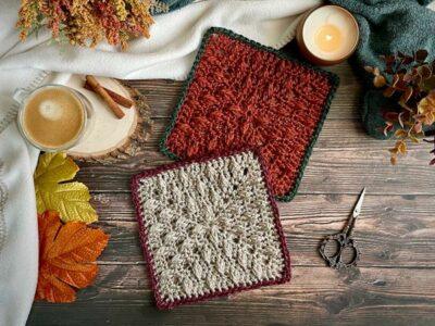crochet Rustling Leaves Blanket Square free pattern