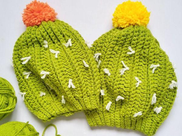 crochet Slouchy Cactus Beanie free pattern