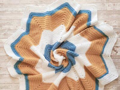 crochet Star Baby Blanket easy pattern