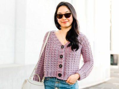 crochet Twilight Button Cardigan free pattern