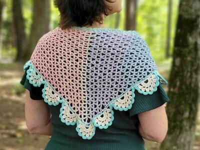 crochet Twilight Shawlette free pattern